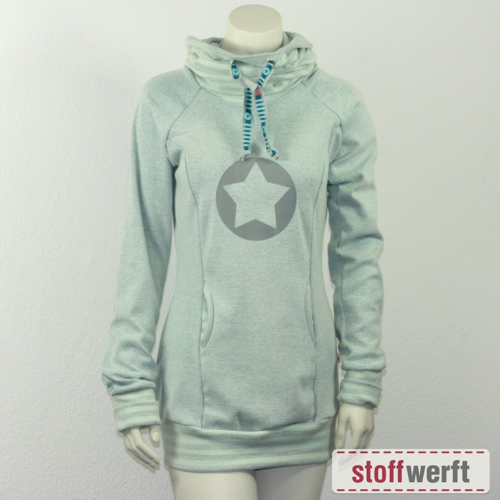 Schnittmuster Lady Comet mit Stoff Reiko mint